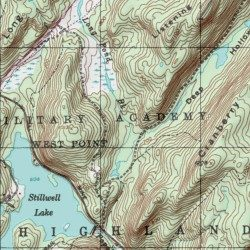 West Point United States Military Academy Orange County New York - Us map of states topographic