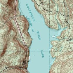 Topographic Map Ct.Colebrook River Lake Litchfield County Connecticut Reservoir