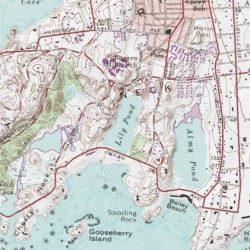 Topographic Map Rhode Island.Lily Pond Newport County Rhode Island Lake Newport Usgs