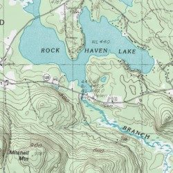 Rock Haven Lake York County Maine Reservoir West Newfield Usgs