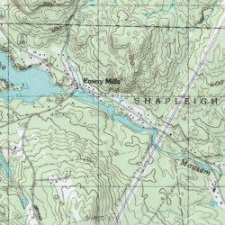Mousam Lake York County Maine Reservoir Sanford USGS - Topographical map of maine