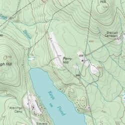 Perry Maine Map.Perry Hill Oxford County Maine Summit North Waterford Usgs