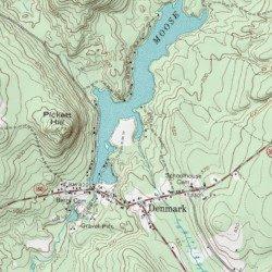 Hiram Maine Map.Moose Pond Oxford County Maine Reservoir Hiram Usgs Topographic