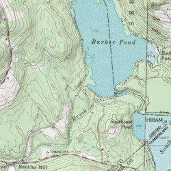 Hiram Maine Map.Barker Pond Dam Oxford County Maine Dam Hiram Usgs Topographic