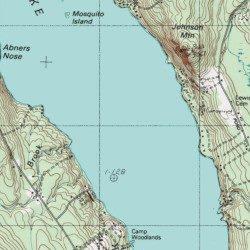 Long Lake Cumberland County Maine Lake Bridgton Usgs Topographic