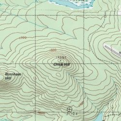 Chick Hill Franklin County Maine Summit Rangeley USGS - Topographical map of maine