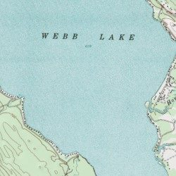 Webb Lake Franklin County Maine Lake Weld Usgs Topographic Map