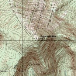 Topography Map Of Maine.Sugarloaf Mountain Franklin County Maine Summit Sugarloaf