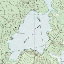 Porter Maine Map.Porter Lake Franklin County Maine Reservoir Strong Usgs