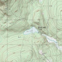Black Hills Elevation Map.Black Hill Pond Somerset County Maine Lake Embden Pond Usgs