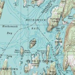 Castle Rock Sagadahoc County Maine Island Westport Usgs