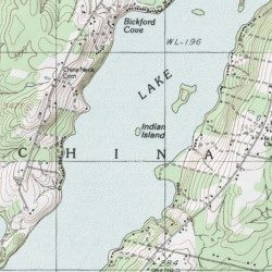China Lake Maine Map.Indian Island Kennebec County Maine Island China Lake Usgs