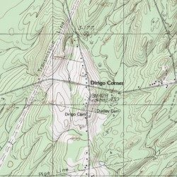 China Lake Maine Map.Dirigo Corner Kennebec County Maine Populated Place China Lake