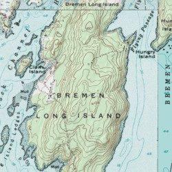 Topographic Map Long Island.Bremen Long Island Lincoln County Maine Island Louds Island Usgs