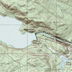 Harrington Maine Map.Chesuncook Ripogenus Lake Piscataquis County Maine Reservoir