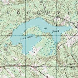 Coleman Pond Waldo County Maine Reservoir Lincolnville Usgs