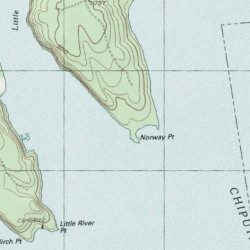 Topographic Map Of Norway.Norway Point Aroostook County Maine Cape Danforth Usgs