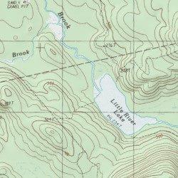Grand Lake Stream Maine Map.Grand Lake Brook Washington County Maine Stream Grand Lake