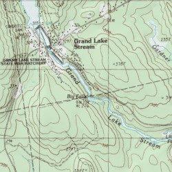 Grand Lake Stream Maine Map.Big Falls Washington County Maine Falls Grand Lake Stream Usgs