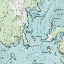 Harrington Maine Map.Little Fort Island Washington County Maine Island Harrington