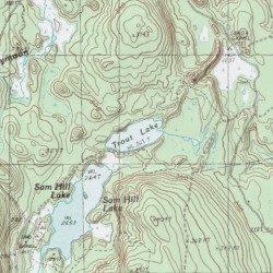 Trout Lake Washington County Maine Lake Wesley Usgs Topographic