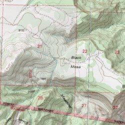 Black Mesa, Sandoval County, New Mexico, Summit [Laguna Seca USGS