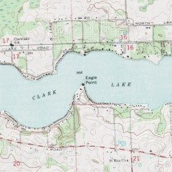 Clark Lake, Jackson County, Michigan, Lake [Cement City USGS