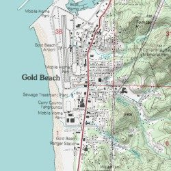 Gold Beach Volunteer Fire Department Curry County Oregon Building Usgs Topographic Map By Mytopo