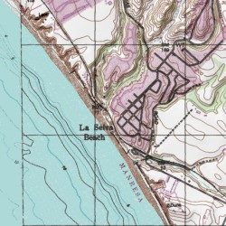 La Selva Beach Santa Cruz County California Poted Place Watsonville West Usgs Topographic Map By Mytopo