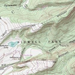 Bidwell Park Butte County California Park Richardson Springs Usgs Topographic Map By Mytopo