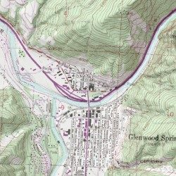 Glenwood Springs, Garfield County, Colorado, Poted Place ... on