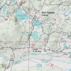 red feather lakes map Red Feather Lake Larimer County Colorado Lake Red Feather red feather lakes map