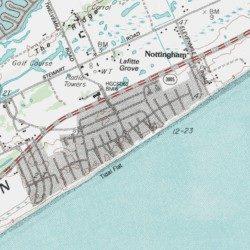 Pirates Beach Galveston County Texas Lake Como Usgs Topographic Map By Mytopo