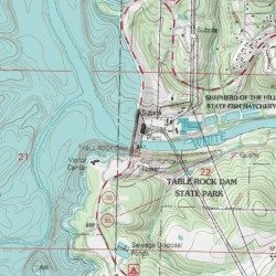 table rock lake topographic map Table Rock Lake Taney County Missouri Reservoir Table Rock Dam table rock lake topographic map