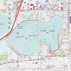 lake washington mn map Clear Lake Washington County Minnesota Lake Linwood Usgs lake washington mn map