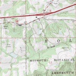 Missouri Botanical Gardens Lake Dam Franklin County Missouri Dam Gray Summit Usgs Topographic Map By Mytopo