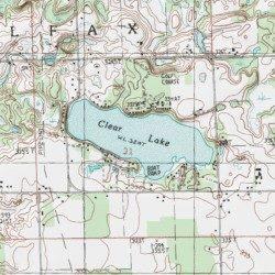 clear lake michigan map Clear Lake Mecosta County Michigan Lake Big Rapids Usgs clear lake michigan map
