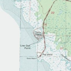 Dekle Beach Taylor County Florida Poted Place Keaton Usgs Topographic Map By Mytopo