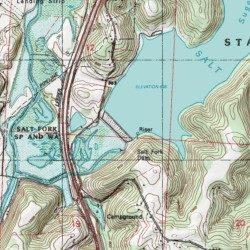 Salt Fork Lake, Guernsey County, Ohio, Reservoir [Cambridge ... Topo Map Of Guernsey on