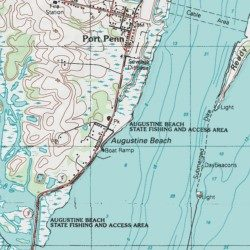 Augustine Beach New Castle County Delaware Locale City Usgs Topographic Map By Mytopo