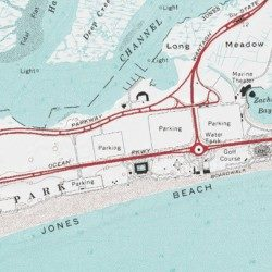 Jones Beach State Park Nau County New York Inlet Usgs Topographic Map By Mytopo