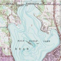 eagle lake mn map Bald Eagle Lake Ramsey County Minnesota Lake White Bear Lake eagle lake mn map