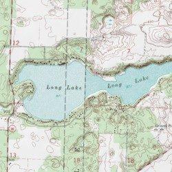 long lake wi map Long Lake Waushara County Wisconsin Lake Saxeville Usgs long lake wi map