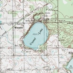 map of crystal lake michigan Crystal Lake Newaygo County Michigan Lake White Cloud Usgs map of crystal lake michigan