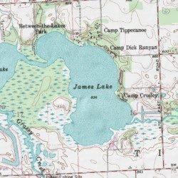 lake james indiana map James Lake Kosciusko County Indiana Lake North Webster Usgs lake james indiana map
