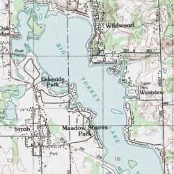 big turkey lake map Big Turkey Lake Steuben County Indiana Lake Stroh Usgs big turkey lake map
