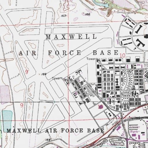 Maxwell Afb Map Maxwell Air Force Base, Montgomery County, Alabama, Airport