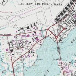 Langley Afb Map Langley Air Force Base Hospital, Hampton (city) County, Virginia