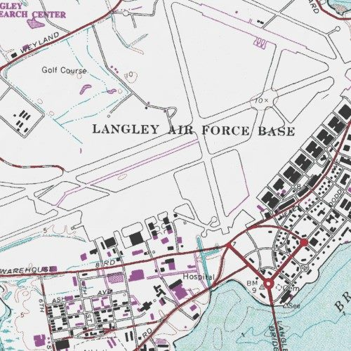 Langley Afb Map Langley Air Force Base, Hampton (city) County, Virginia, Airport