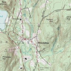 Hillsborough County Elevation Map Brookline, Hillsborough County, New Hampshire, Populated Place